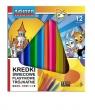 Kredki świecowe plastik trójkątne 12 kolorów