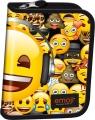 Piórnik dwuklapkowy bez wyposażenia Emoji