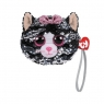 Cekinowa torba na nadgarstek Kot Kiki