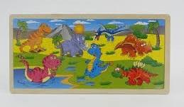 Układanka Puzzle - Dino 45x22x0,5cm