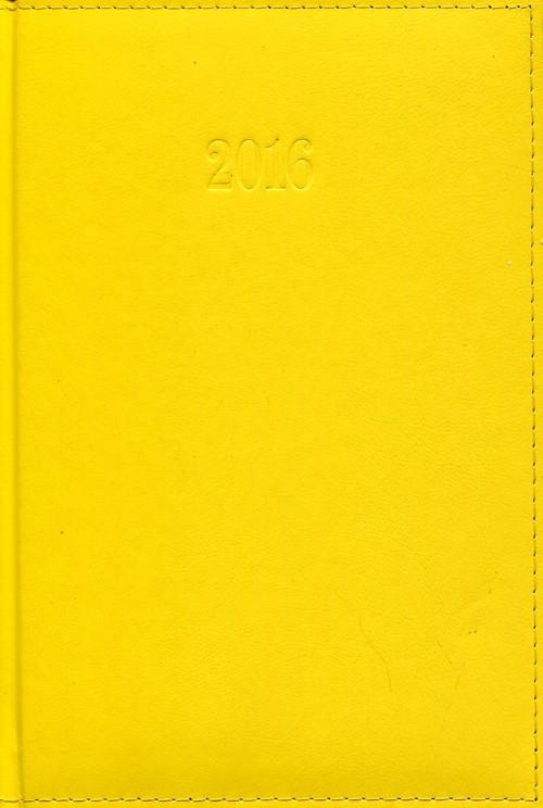 Kalendarz 2016 Książkowy dzienny A5 Lux żółty