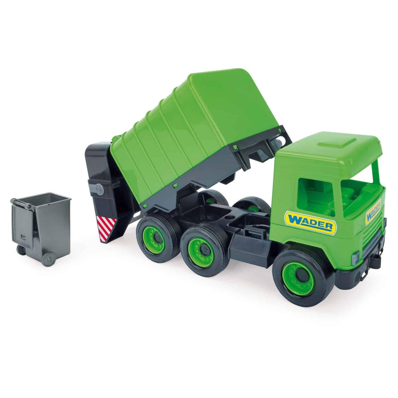 Middle Truck śmieciarka zielona (32103) (Uszkodzone opakowanie)