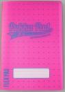 Zeszyt B5/60K kratka Neon pink