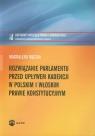 Rozwiązanie parlamentu przed upływem kadencji w polskim i włoskim prawie konstytucyjnym