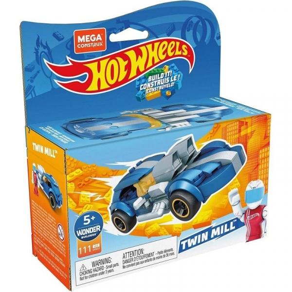 Mega Construx: Hot Wheels, Twin Mill Pojazd do zbudowania, klocki (GVM31)