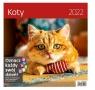 Kalendarz 30 x 30 z naklejkami. Koty 2022