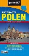 Polen. Autokarte mapa 1:650 000 praca zbiorowa