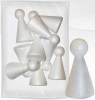 Dodatek dekoracyjny Craft-fun kształty stryropianowe postać 100mm (006)