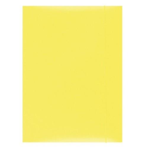 Teczka z gumką lakierowana A4 żółta 50 sztuk (21191131-06)