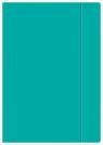 Teczka z gumką A4+ - Fluo turkusowa (421638)