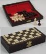 Drewniane szachy podróżne