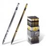 Ołówki net z gumką czarne drewno Adel
