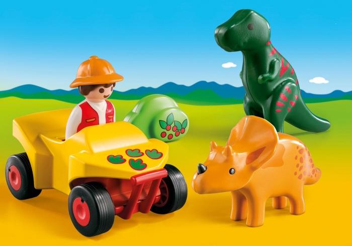 Badacz dinozaurów z quadem (9120)