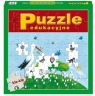Puzzle edukacyjne. Bocian Klemens Kle-Kle