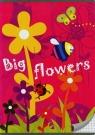 Zeszyt A5 w kratkę 16 kartek Big flowers