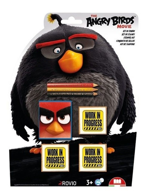 Pieczątki Shaped 3 sztuki Angry Birds