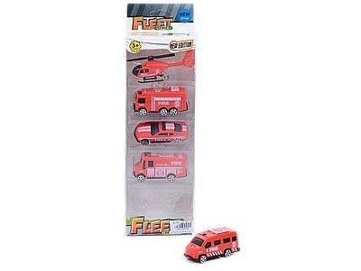 Samochód Adar zestaw 5 pojazdów strażackich (521209)