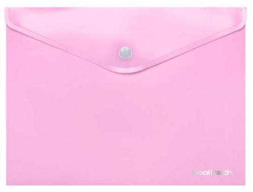 CoolPack Pastel, Koperta na dokumenty A4 - różowa (81209CP)