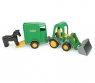 Wader, traktor z łyżką i przyczepą dla konia (35220)