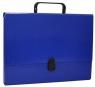 Teczka-pudełko Office Products PP A4 5cm, z rączką i zamkiem, granatowa