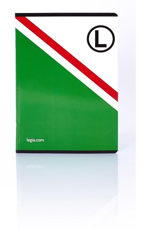 Zeszyt A5 w kratkę 32 kartki Legia 10 sztuk