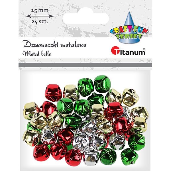 Dzwoneczki metalowe 4 kolory (307919)