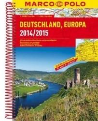 Niemcy atlas samochodowy 1:300 000 2014-15 (spirala) praca zbiorowa