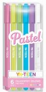 Długopis żelowy 6 kolorów Pastel YN TEEN