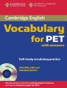 Cambridge Vocabulary for PET Student Book with answers
