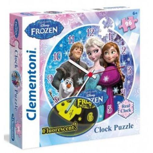 Puzzle Zegar Frozen 96 elementów (23021)
