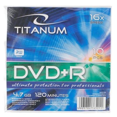Płyta dvd Titanum Nośnik danych Płyta DVD+R 4,7 GB x16 (x16 - Koperta 10)