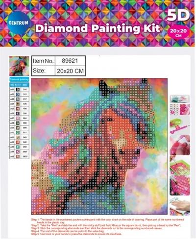 Mozaika diamentowa 5D 20x20cm Horse 89621