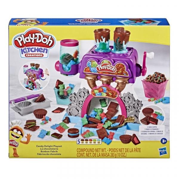 Zestaw z masą plastyczną PlayDoh Fabryka czekolady (E9844)