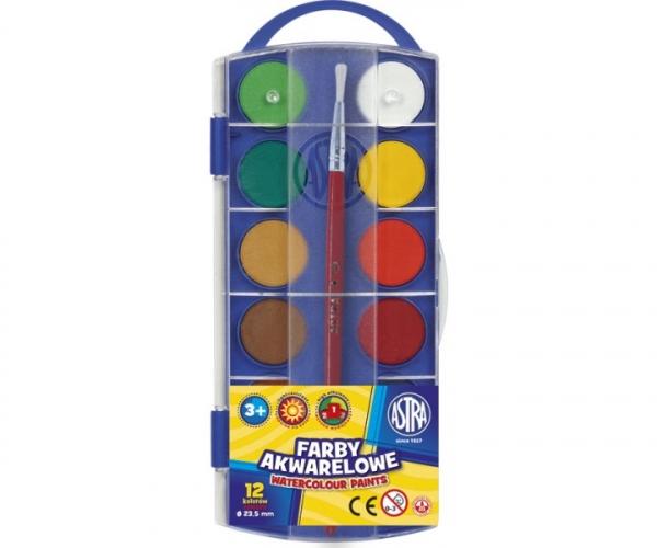 Farby akwarelowe Astra 12 kolorów