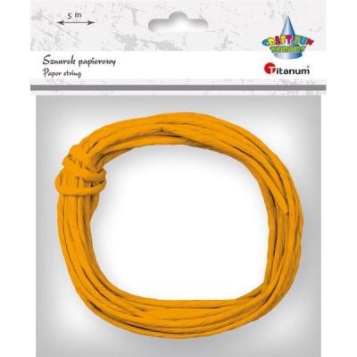 Sznurek papierowy 5m/0,35mm - pomarańczowy (396459)