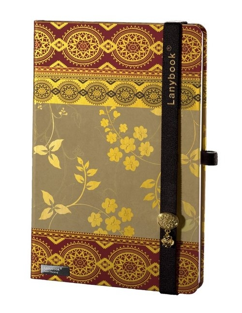 Notes A5 Lanybook Oriental Dream w kratkę bordo