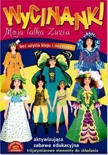 Moja lalka Zuzia Wycinanki Szarf Maria