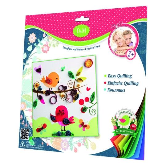 Wykonaj ozdobną kartkę metodą quillingu kwiaty