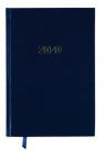 Kalendarz 2020 A5 książkowy dzienny granatowy (KK-A5D E)