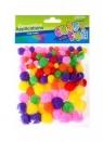Ozdoba dekoracyjna kolorowe pompony 100szt