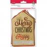 Zawieszki prezentowe Merry Christmas (414489)