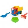 Wader, Tech Truck wywrotka z akcesoriami do piasku (70421)