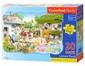 Puzzle Maxi Konturowe: Farm 20 elementów (02214)