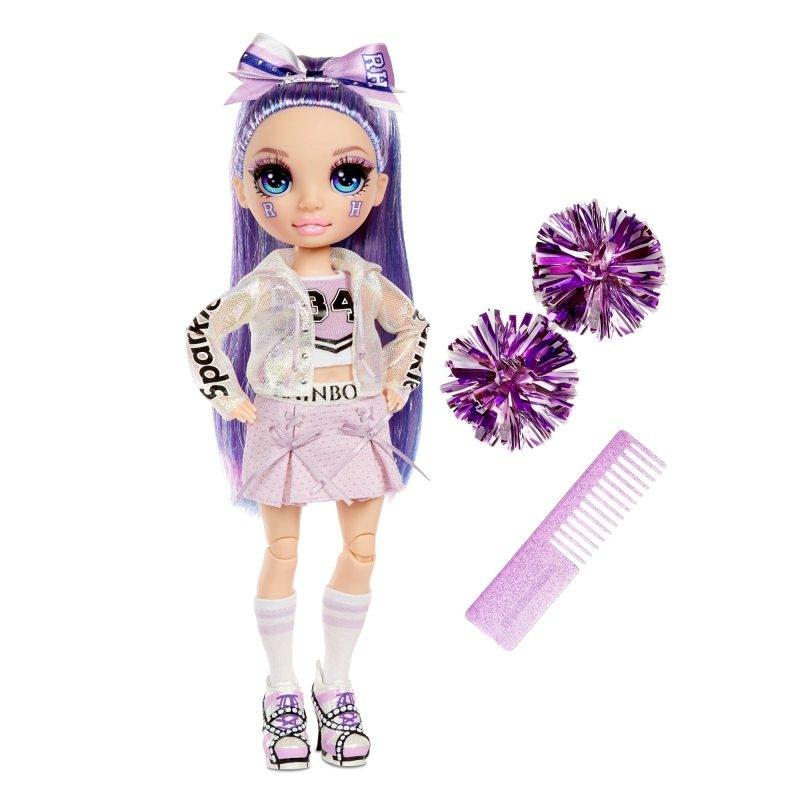 Rainbow High: Lalka Violet Willow - Cheerleaderka (572558EUC/572084)