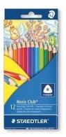 Kredki trójkątne ołówkowe12 kolorów