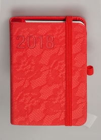 Kalendarz Awangarda A7 TDW 2018 czerwony