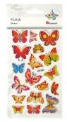 Naklejki wypukłe motylki 18szt