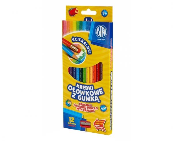 Kredki ołówkowe z gumką, 12 kolorów (312119001)