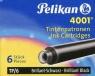 Naboje krótkie Pelikan 4001 TP/6 czarne 6 szt. (301218)