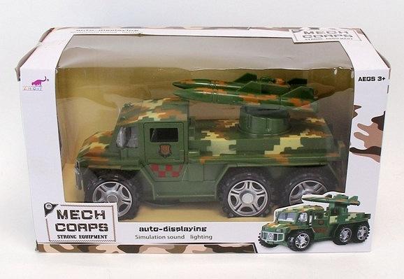 Auto wojskowe 23 cm B&G ze światłem i dźwiękiem (A918564Q-W)